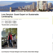 Lora Danyluk- Guest Expert on Sustainable Landscaping